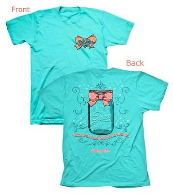 Cherished Girl A-Mason Grace Shirt, Aqua,  XX-Large  -
