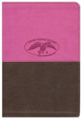 NKJV Duck Commander Faith & Family Bible,  Soft leather-look, Pink/Brown--indexed   -     By: Phil Robertson