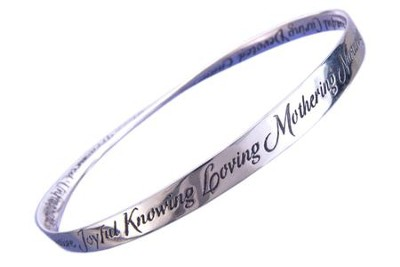 The A to Z of Mothering, Sterling Silver Mobius Bracelet  -
