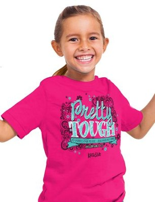 Pretty Tough Shirt, Heliconia,   Youth Large  -