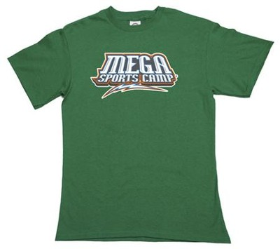 MEGA Sports Camp T-Shirt, Youth Small (6-8), green   -
