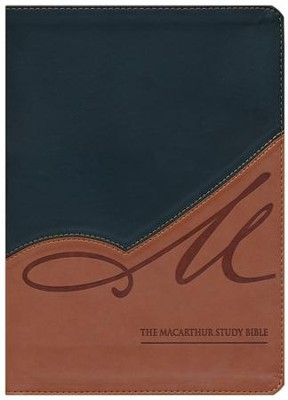 NASB MacArthur Study Bible, Revised and updated, Imitation leather, black/terracotta  -     By: John MacArthur