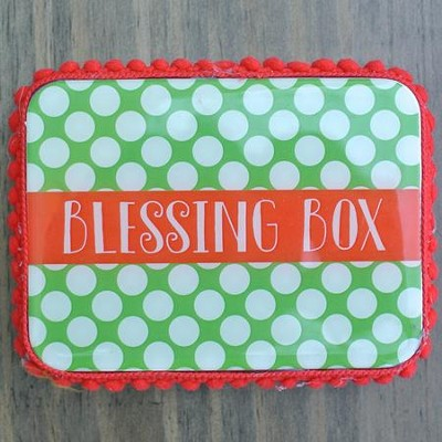 Blessings Box, Polka Dot, Green  -