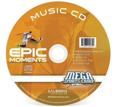MEGA Sports Camp Epic Moments Music CD  -     By: My Healthy Church
