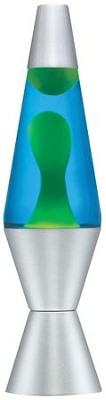 Lava Lamp, 14.5 Inches, Blue and Yellow  -