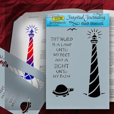 Bible Journaling Stencil, Lighthouse  -