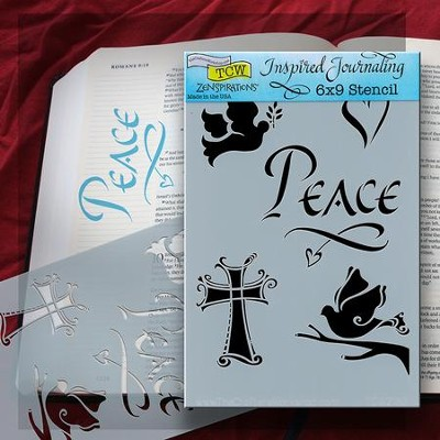Bible Journaling Stencil, Peace, Cross  -