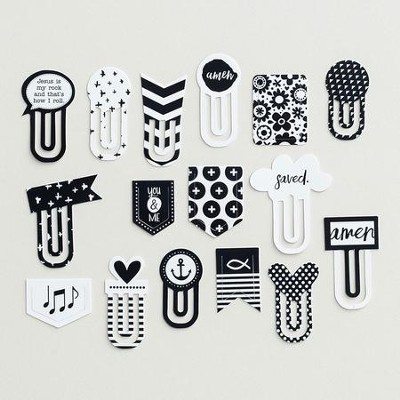Black & White Designer Clips  -