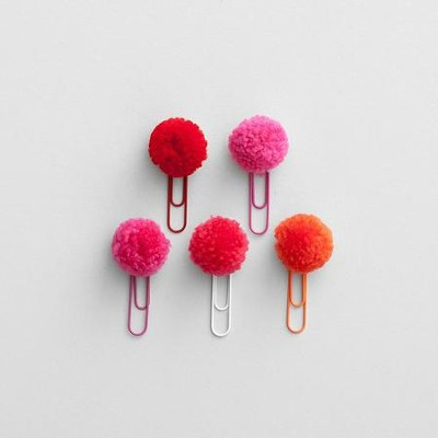Apple of My Eye PomPom Clips  -