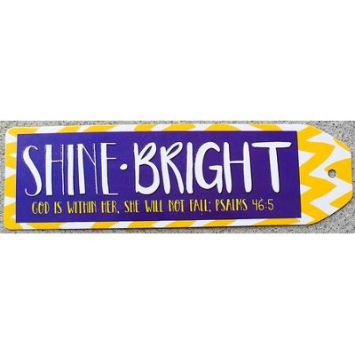 Shine Bright Chevron Bookmark, Yellow  -