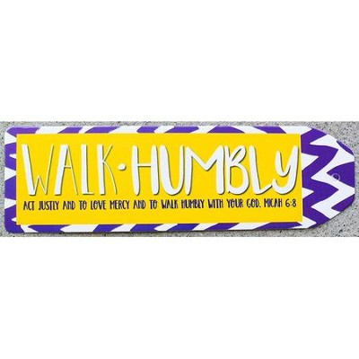 Walk Humbly Chevron Bookmark, Purple  -