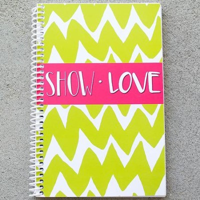 Show Love Chevron Journal, Lime  -