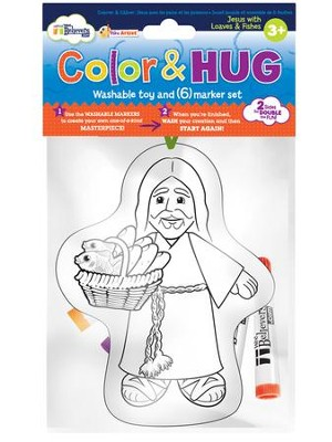 Color and Hug, Jesus with Loaves and Fishes   -
