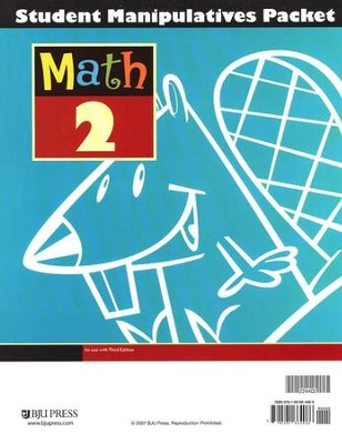 BJU Math Grade 2 Student Manipulatives Packet, Third Edition    -