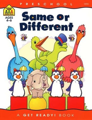 Perceptual Skills-Same or Different, Preschool Get Ready Workbooks  -