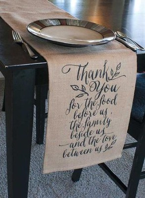 Thank You for the Food Before Us Table Runner  -