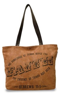 Faith, The Substance Of Things Hoped For, Suede Leather Tote Bag  -