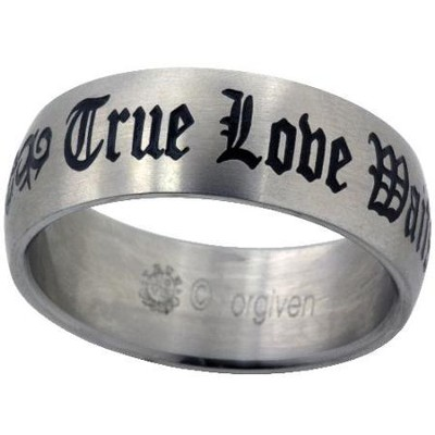 True Love Waits Ring, Tribal, Size 12  -