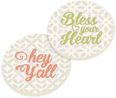 Southern Inspired Car Coasters, Set of 2  -