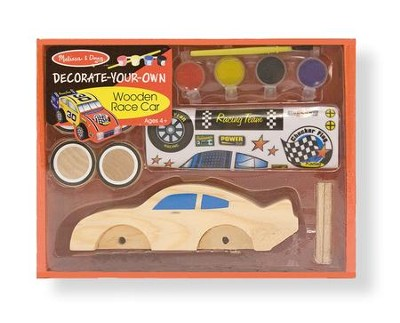 Wooden Race Car, Decorate Your Own  -