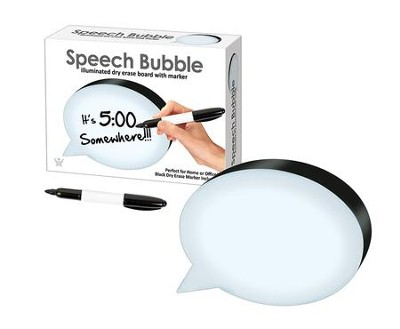 Speech Bubble, Dry Erase Board  -