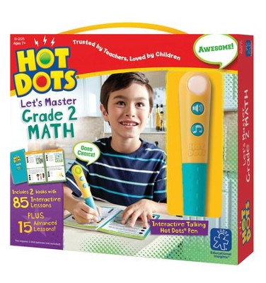Hot Dots Junior, Let's Master Grade 2 Math  -