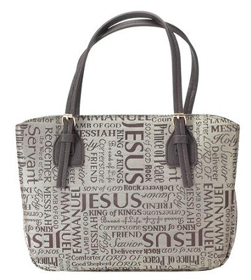 Names of Jesus Bible Cover, Brown, X-Large  -