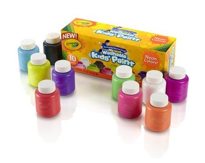 Crayola, Washable Neon Paint, 10 Pieces  -