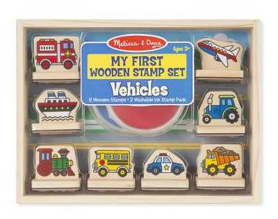 My First Wooden Stamp Set, Vehicles  -