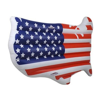 USA Flag Map Float  -