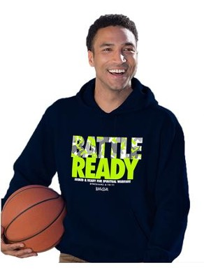 Battle Ready, Hooded Sweatshirt, Navy, X-Large  -