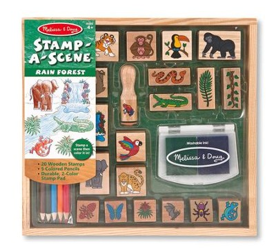 Stamp-a-Scene, Rain Forest  -