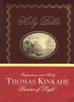 NKJV Lighting the Way Home Family Bible, Hardcover   -     By: Thomas Kinkade