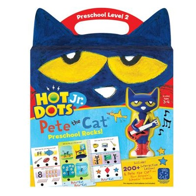 Hot Dots Junior, Pete the Cat, Preschool Rocks Set  -