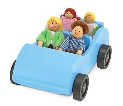 Road Trip! Wooden Car and Passengers  -