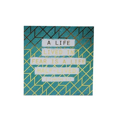 A life lived in fear...Teal & Gold Plaque   -