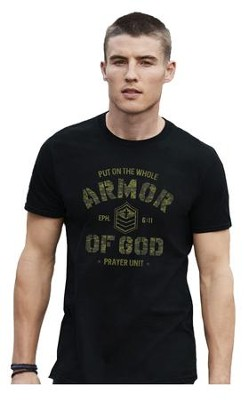 Armor Of God Camo Shirt, Black, 4X   -