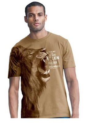 Lion Of Judah, Shirt, Tan, XXX-Large  -