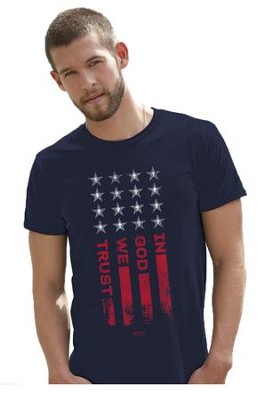 In God We Trust Shirt, Navy, X-Large  -