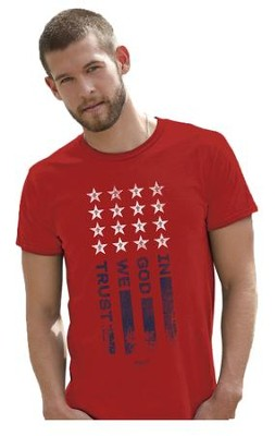 In God We Trust Shirt, Red, Small  -