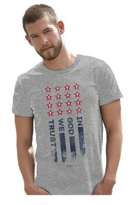 In God We Trust Shirt, Gray, Small  -