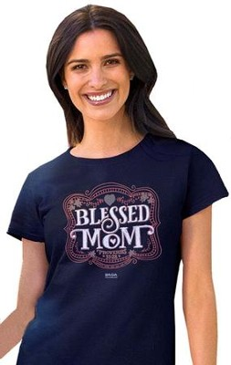 Mother's Day Shirt, Navy, Small  -