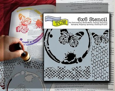 Bible Journaling Stencil, Butterfly Collage  -