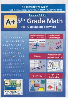 5th Grade MATH Full Curriculum Software  -