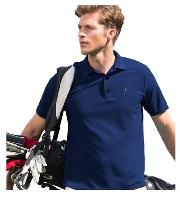 Active Cross Polo Shirt, Navy, X-Large  -