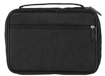 Canvas Bible Cover, Black, X-Large  -