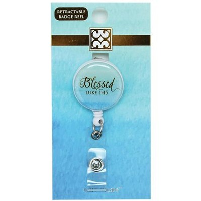 Blessed, Luke 1:45 Badge Reel, Green  -