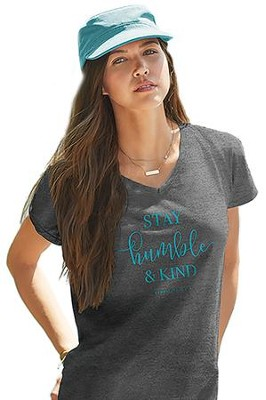 Stay Humble & Kind Shirt, Gray, X-Large  -