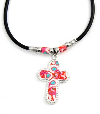 Cross Floral Necklace  -