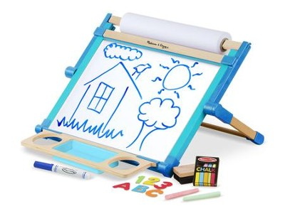 Deluxe Double-Sided Magnetic Tabletop Easel Set  -